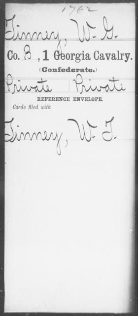 Tinney, W G - 1st Cavalry