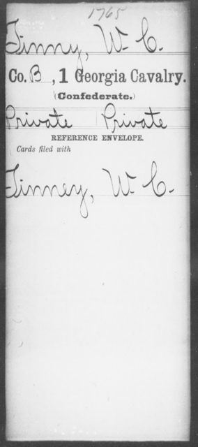 Tinny, W C - 1st Cavalry