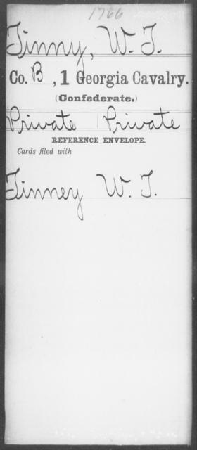 Tinny, W T - 1st Cavalry