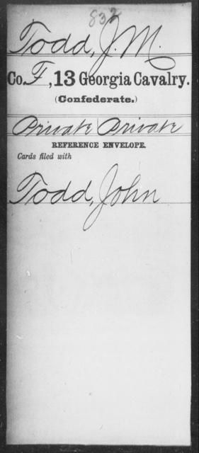 Todd, J M - 13th Cavalry
