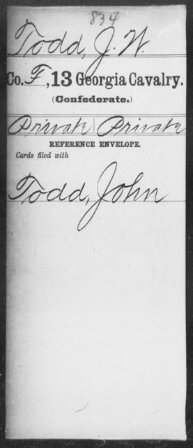 Todd, J W - 13th Cavalry
