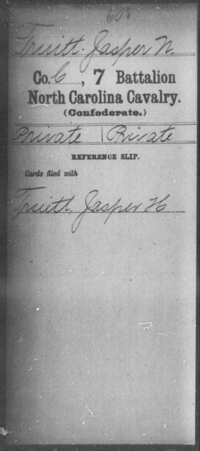 Truitt, Jasper N - Seventh Battalion, Cavalry