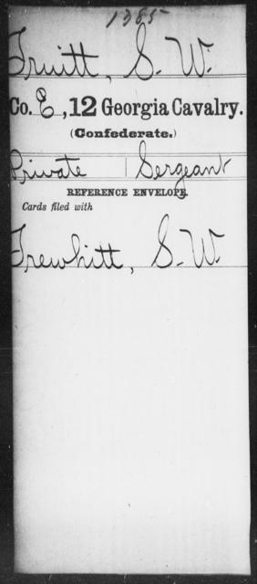 Truitt, S W - 12th Cavalry