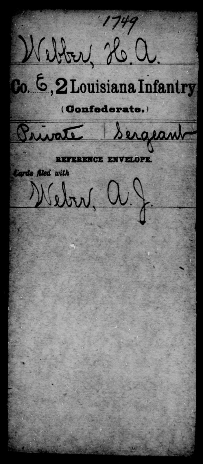 Webber, H A - Age [Blank], Year: [Blank] - M, So-Wh - Louisiana