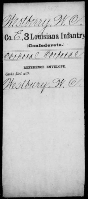 Westberry, W C - Age [Blank], Year: [Blank] - Roll Military Unit, U - Z - Louisiana