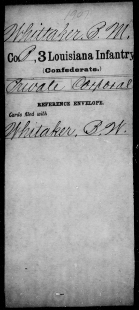 Whittaker, B M - Age [Blank], Year: [Blank] - Roll Military Unit, U - Z - Louisiana