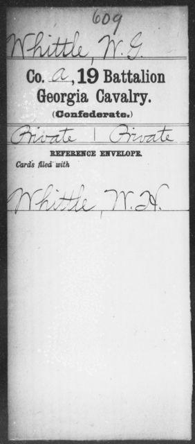 Whittle, W G - 19th Battalion, Cavalry
