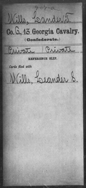 Wills, Lander T - 13th Cavalry