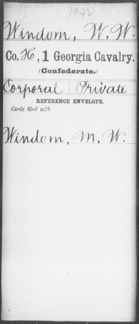 Windom, W W - 1st Cavalry