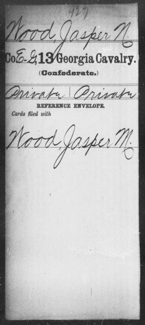 Wood, Jasper N - 13th Cavalry