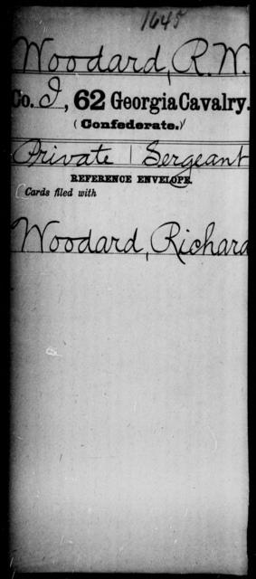 Woodard, R W - 62d Cavalry
