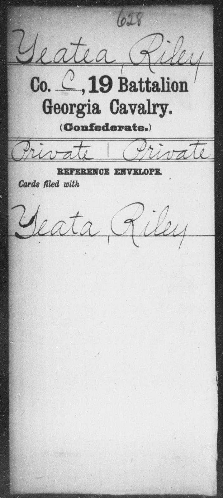 Yeatea, Riley - 19th Battalion, Cavalry