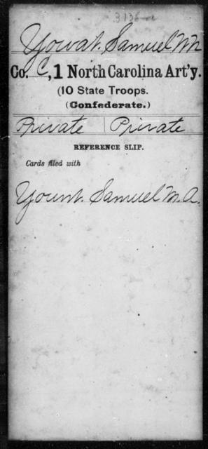 Yowat, Samuel W N - First Artillery (10th State Troops)