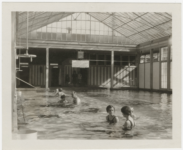 Franklin Delano Roosevelt Exercising in a Pool at Warm Springs