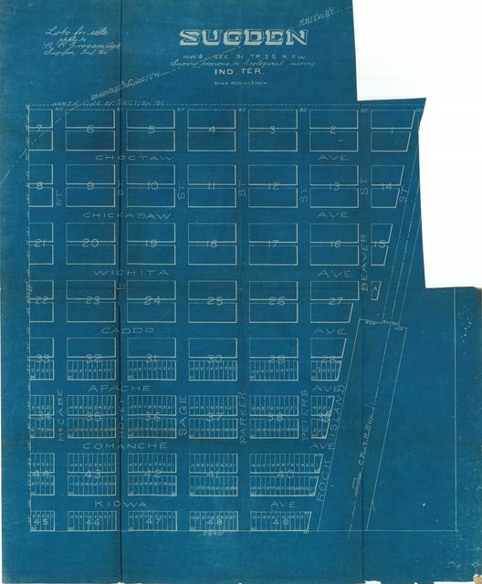 Arkansas and Choctaw Railway, Survey of Sugden, NW 1/4, Section 31 TP. 5S R. 7W.
