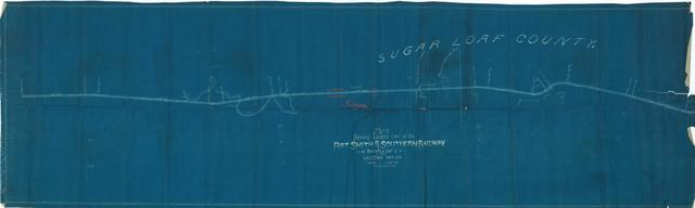 Map Showing Fort Smith Southern Railway Through Part of Choctaw Nation, Indian Territory, Sugar Loaf County, Folsom Station
