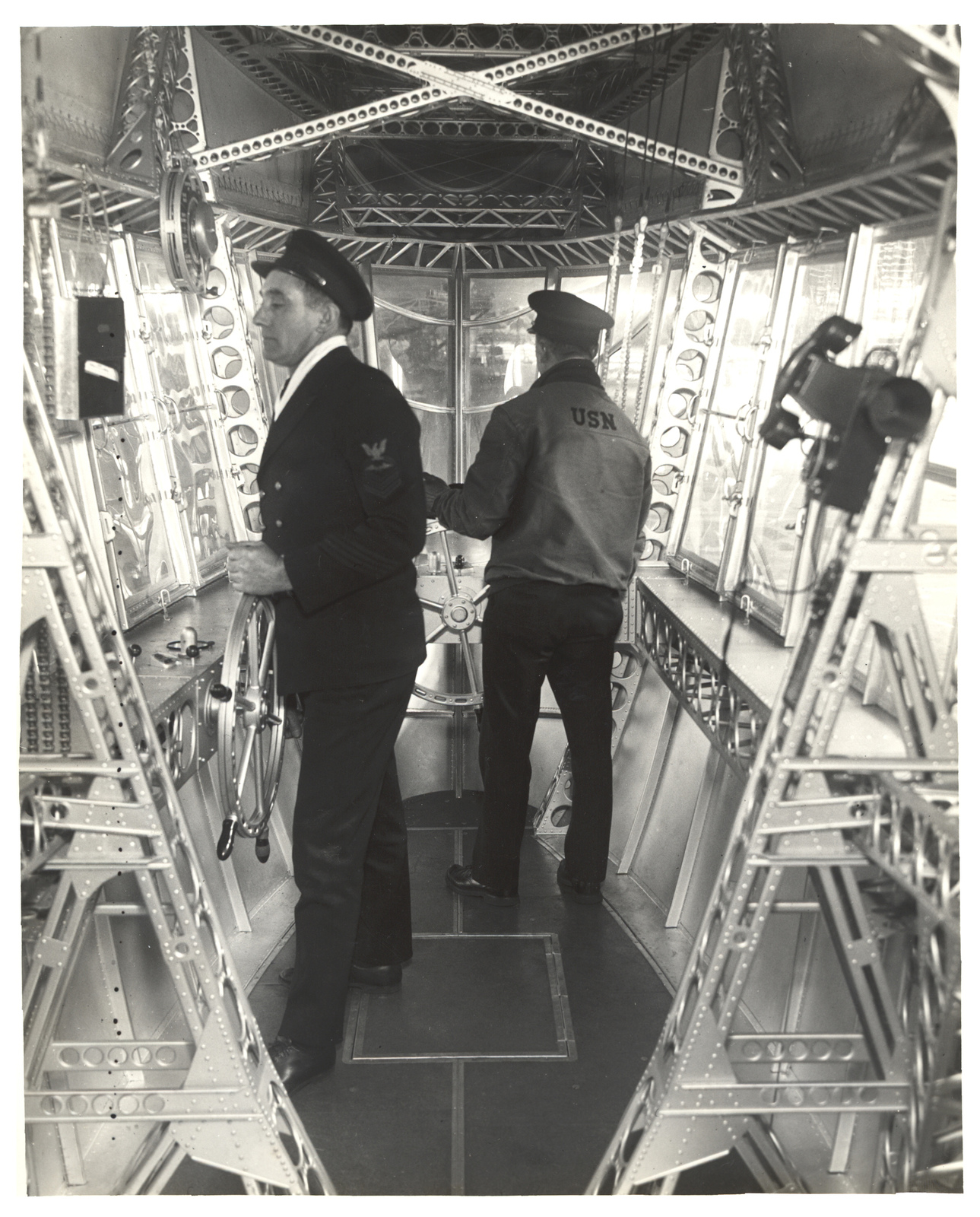 Photograph of Emergency Control Station of a Dirigible