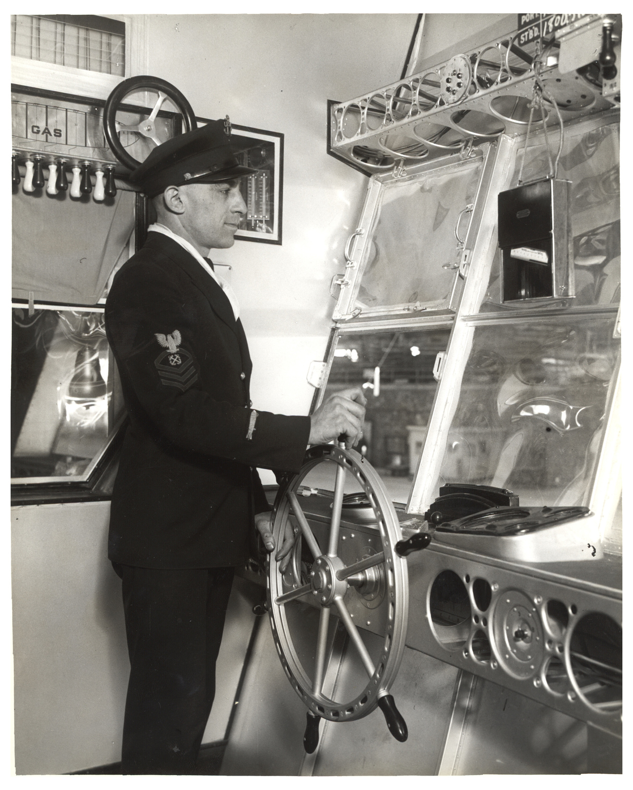 Photograph of the Left Side of the Control Car on a Dirigible