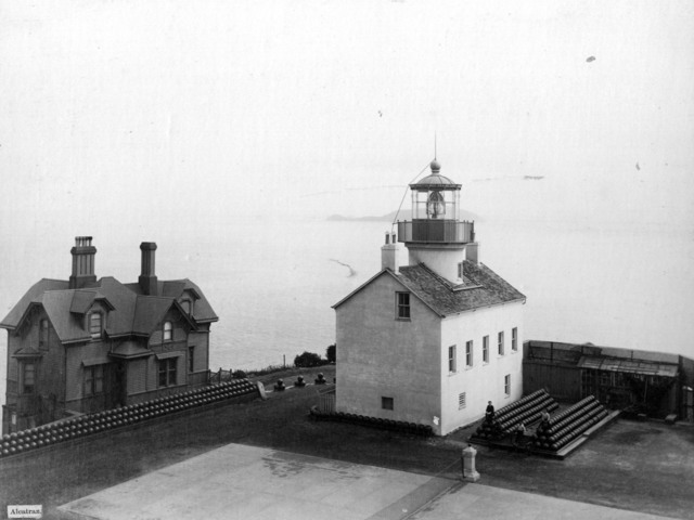 Photograph of Alcatraz Island Light Station in California