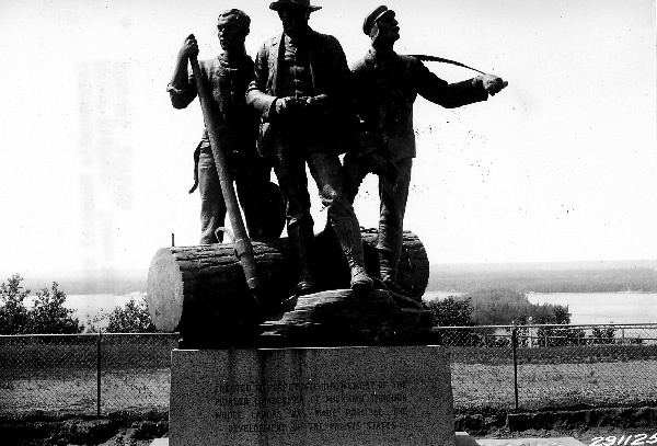 Photograph of Lumberman's Memorial Monument on Au Sable River Highway