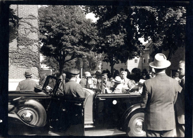 President Franklin D. Roosevelt at the Watertown Arsenal