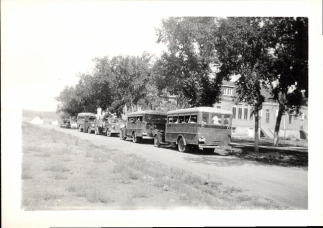 The Busses and Club Members Returning to Rosebud