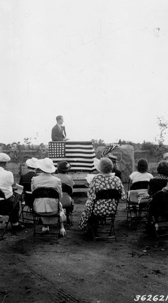 Photograph of Forest Supervisor Clare W. Hendee Speaking at the James W. Toumey Nursery Dedication