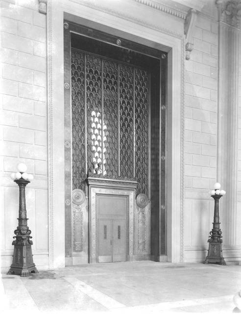 Photograph of the National Archives Building Entrance Doors on Constitution Avenue