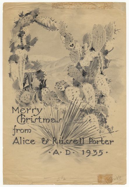 Merry Christmas from Alice & Russell Porter A.D. 1935
