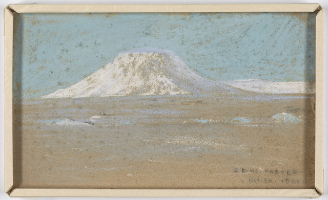 Sketch of a Mountain Rising from a Glacier