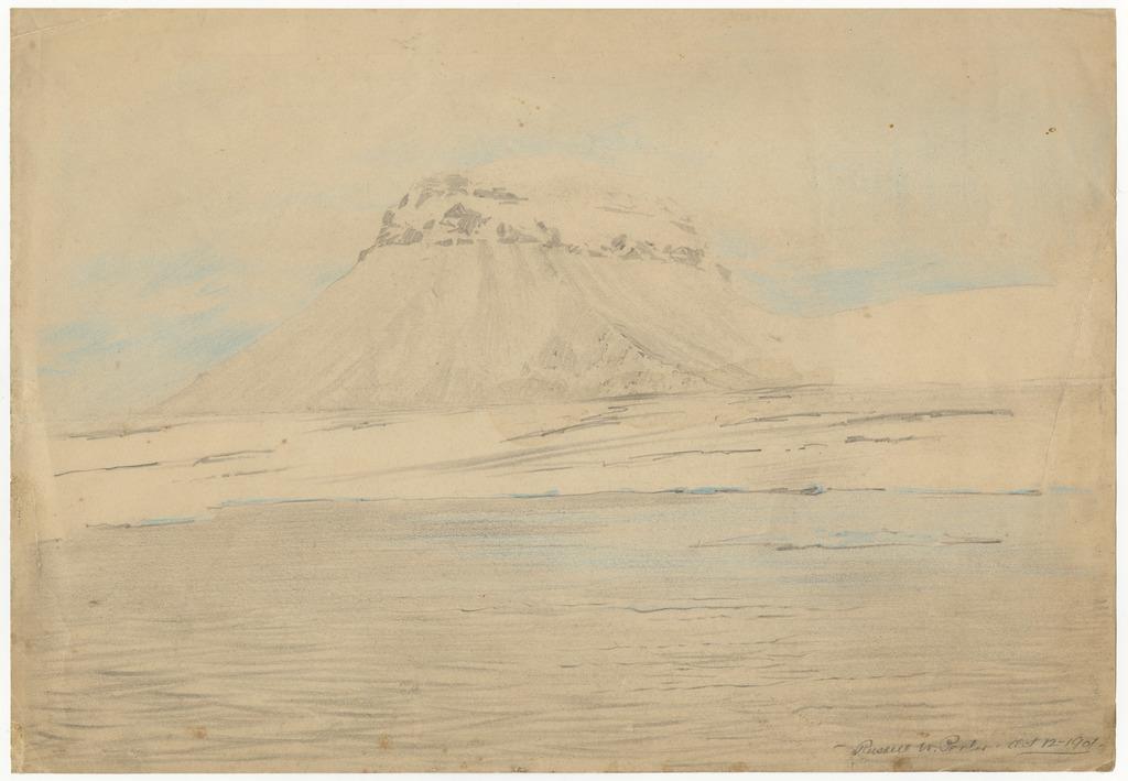 Sketch of a Rising Basaltic Rock