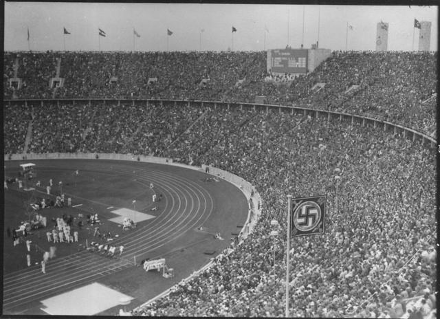 Photograph of the 1936 Olympic Stadium in Berlin, Germany