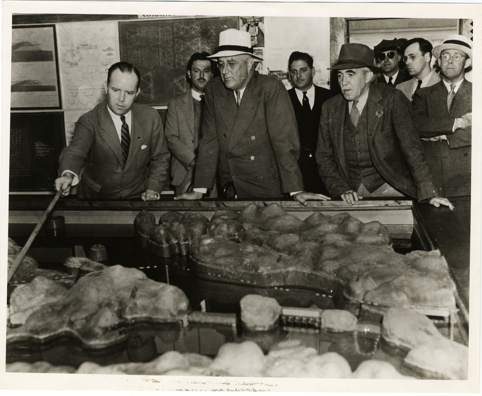 President Franklin Delano Roosevelt Looking over the Model of the Passamaquoddy Tidal Power Project