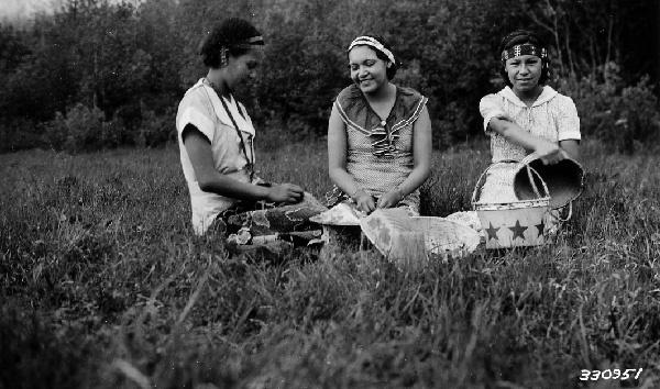 Photograph of Chippewa Indian Girls at Grand Portage Reserve