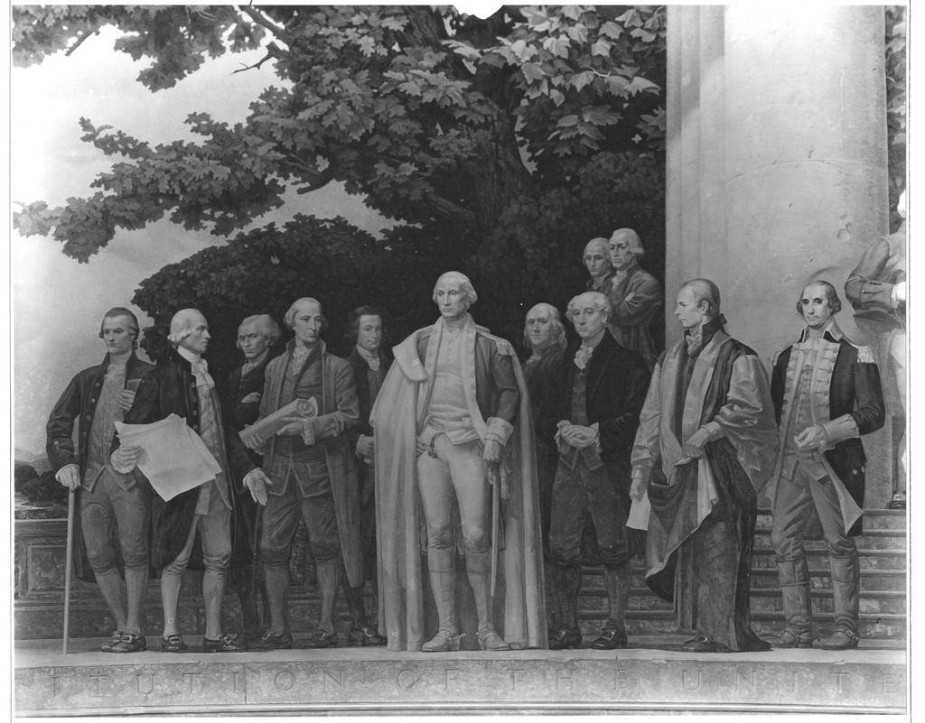 Photograph of the Center Section of the Mural, The Constitution, by Barry Faulkner