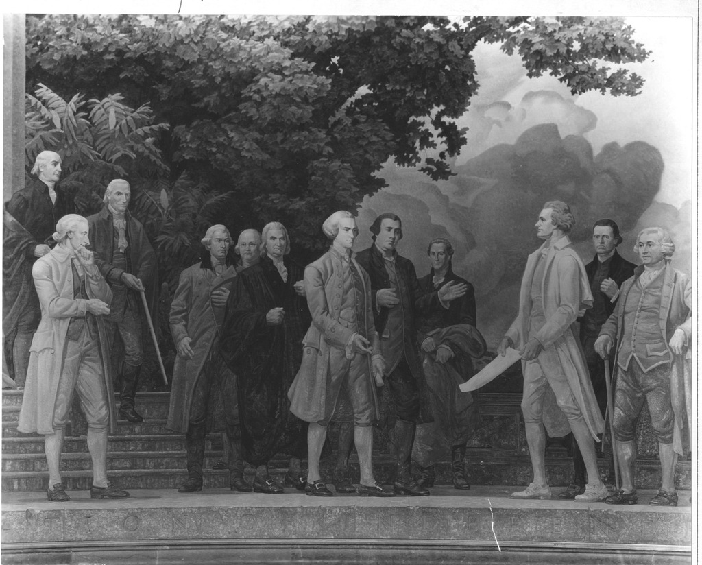 Photograph of the Center Section of the Mural, The Declaration of Independence, by Barry Faulkner