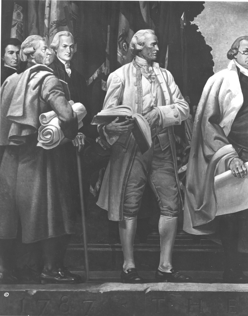 Photograph of the Left Section of the Mural, The Constitution, by Barry Faulkner