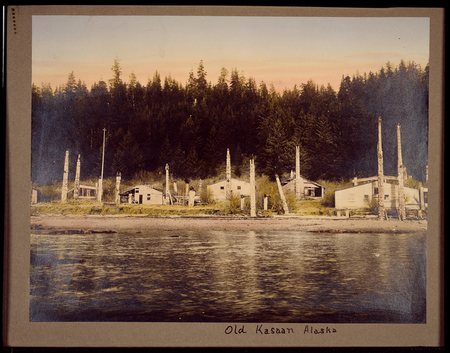 Color photo: Old Kasaan, Alaska.