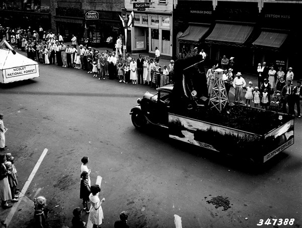 Photograph of Fire Protection Float in the Memorial Day Parade in Rhinelander, Wisconsin