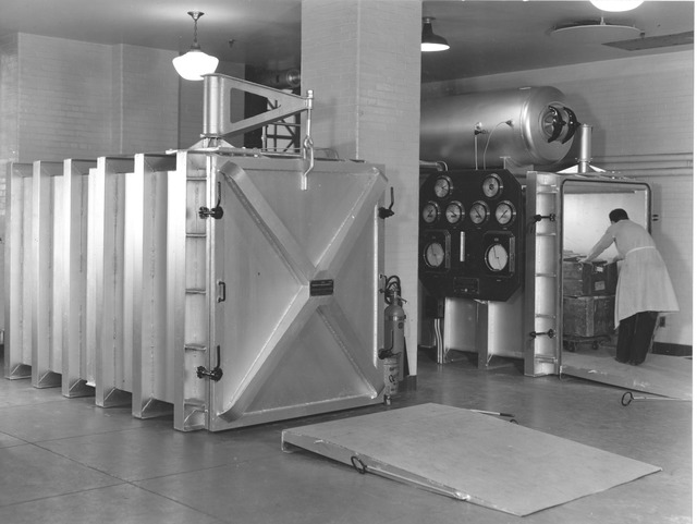 Photograph of Fumigating Vaults in the Division of Repair and Preservation at the National Archives