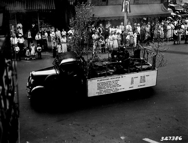 Photograph of Planting Float in the Memorial Day Parade in Rhinelander, Wisconsin