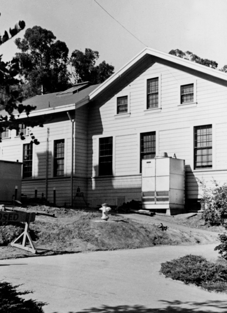 The Old Radiation Laboratory (ORL) building demolished 1960. Historical Cooksey, taken in 1937. Principal Investigator/Project: Analog Conversion Project