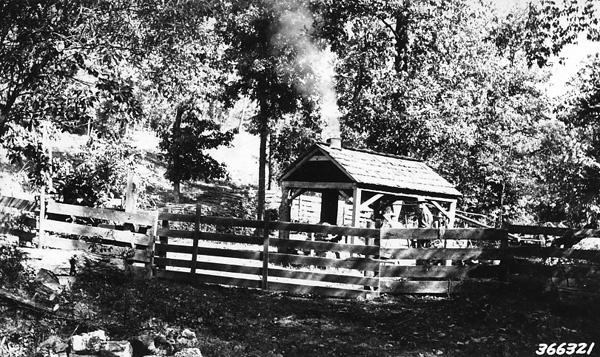 Photograph of Custon Sorghum Sugaring Plant Near Greer, Missouri