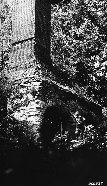 Photograph of Remains of Old Lead Furnace from Early Lead Mining in Palmer Area in Missouri