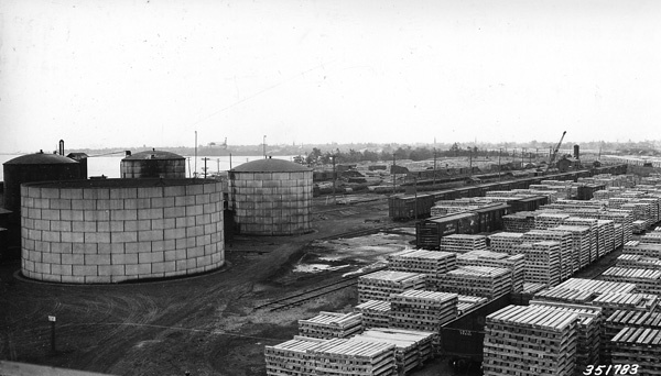 Photograph of Chicago and North Western Railway Tie Treating Plant from Southwest
