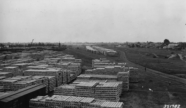 Photograph of Tie Yards of Chicago and North Western Railway Near Escanaba, Michigan