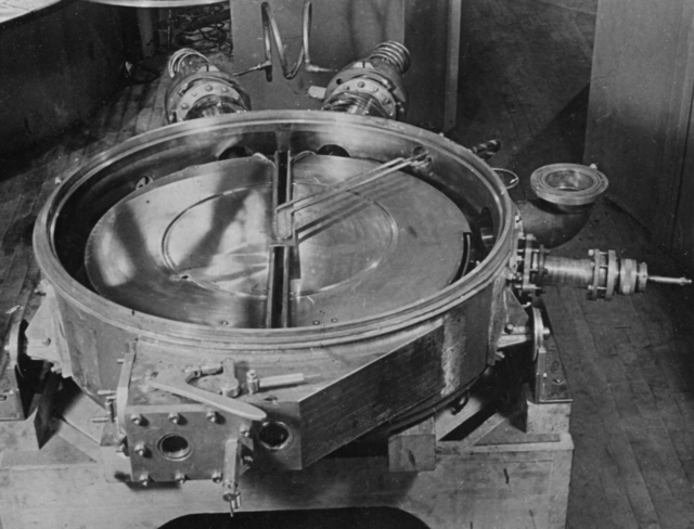 Tank #4 at the 37-inch cyclotron, taken August 1937. Principal Investigator/Project: Analog Conversion Project