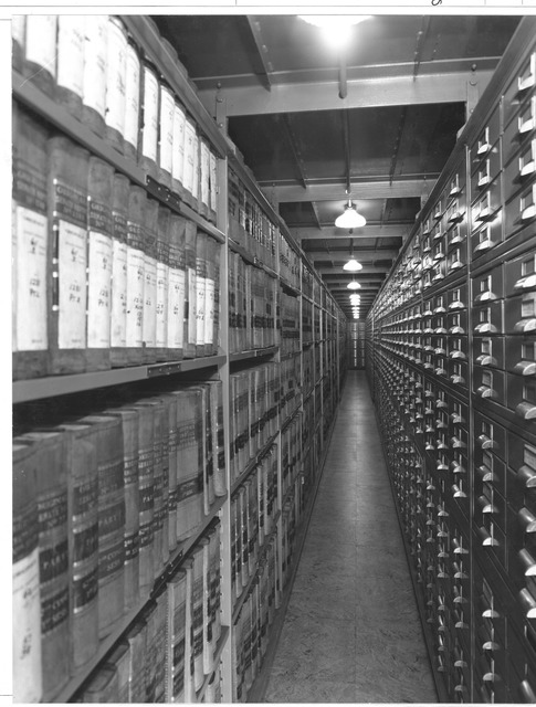Photograph of Tier 10 Southwest Stack Space, Senate Documents Recently Moved to the National Archives