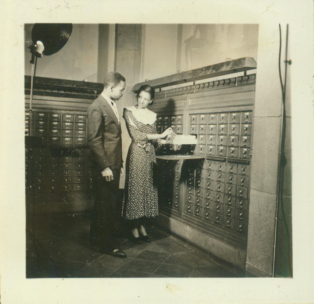 Fisk University, Students at Library Card Catalog