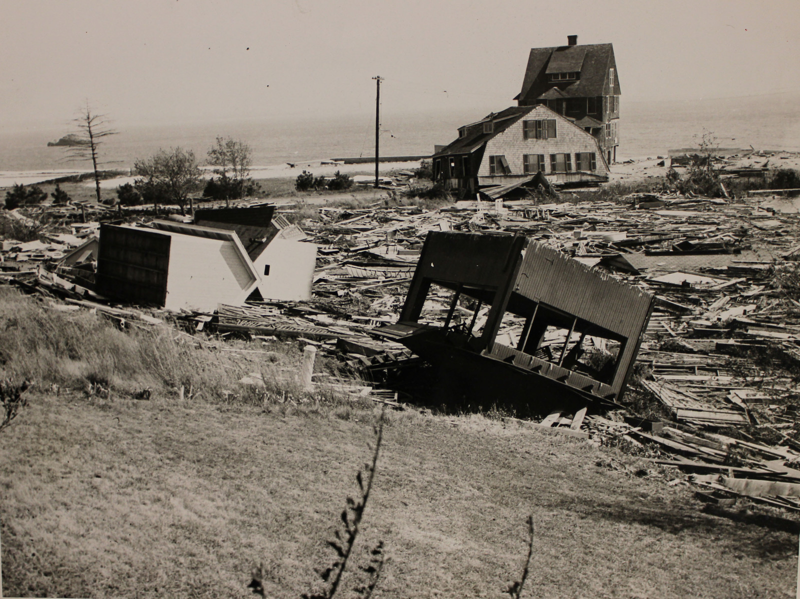 Damage at Crescent Beach in East Lyme, Connecticut from the Hurricane of 1938